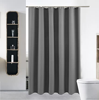Extra Long Fabric Shower Curtain Or Liner Set For Bathroom Washable Waterproof Cloth Mildew Resistant Polyester