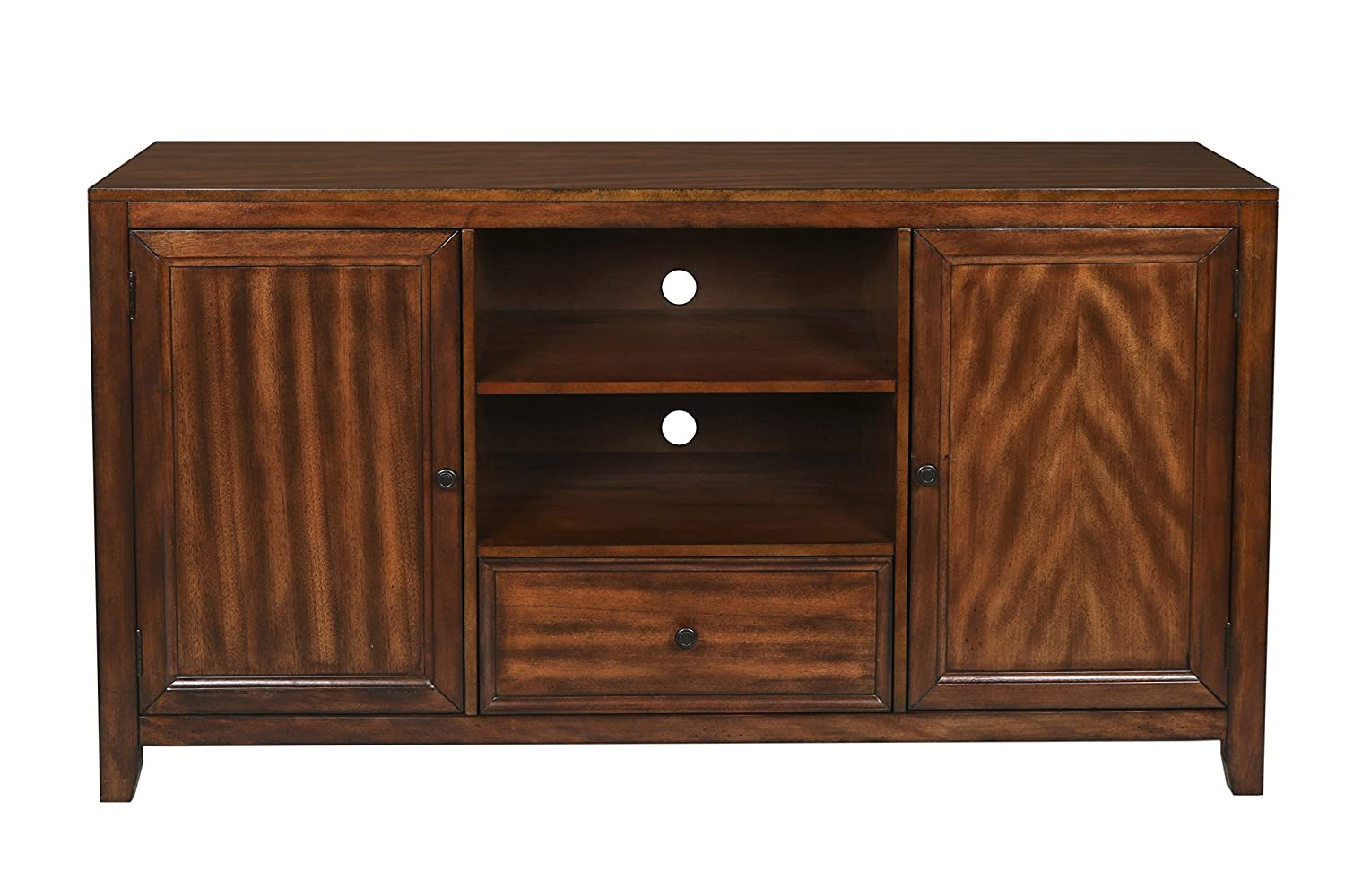 New Classic Contempo Entertainment Console, Burnished Walnut New Classic Home Furnishings 10-711-10