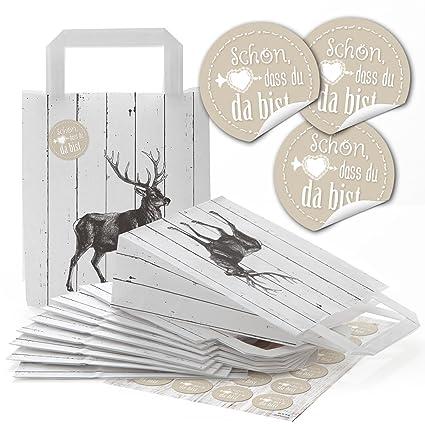 96 Papel bolsas de papel Bolsas Asa de bolsas bolsas ciervo ...