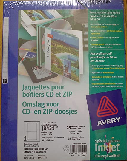 Avery CD Case Insert Cover - Inkjet - J8431 - Etiquetas de ...