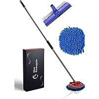 BLUE PINEAPPLE® Autowasborstel met telescoopsteel - incl. raamtrekker/raamreiniger | wasborstel auto | extreem zachte…