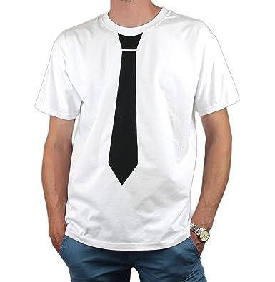 Camiseta Unisex de Manga Corta para Hombre, con Corbata Estampada ...