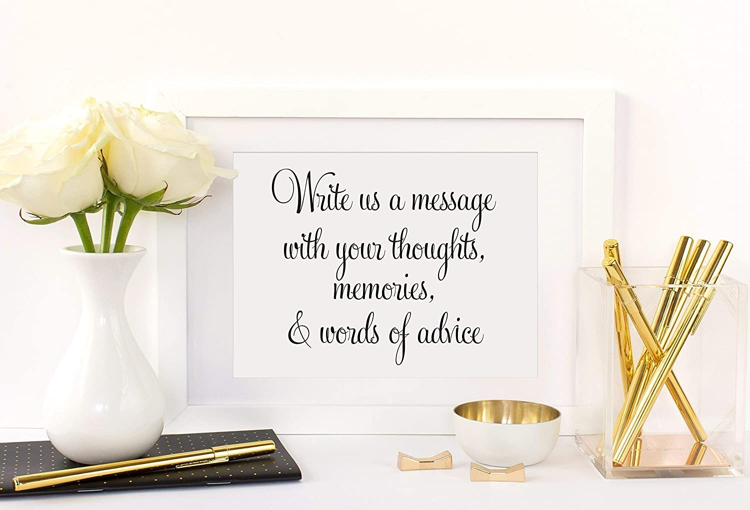 Your Choice of Size and Color Print Sign UNFRAMED Write Us a Message with Your Thoughts.Advice Sign Wedding Well Wishes Wishes for the Bride and Groom Wishing Well Sign