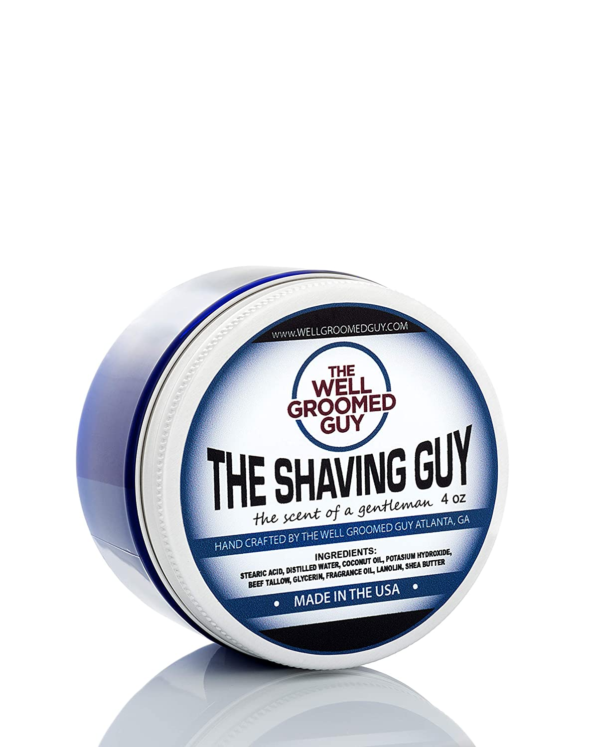 The Well Groomed Guy Shaving Soap - High-end Shaving Soap for Men - Natural, Lather Shaving Soap - For a Close & Smooth Shave with Tallow Glycerin & Lanolin – Premium Skin Care Lavender & Sandalwood S