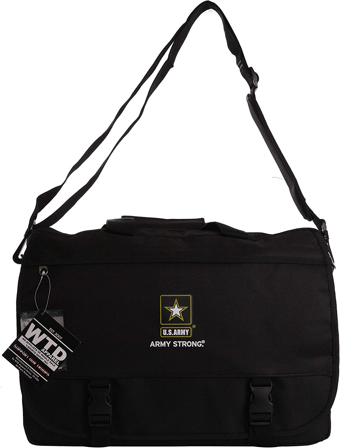 US Military Official Licensed Army Navy Air Force Laptop Messenger Bag