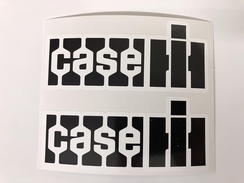 2 Case Old Logo Black Decals