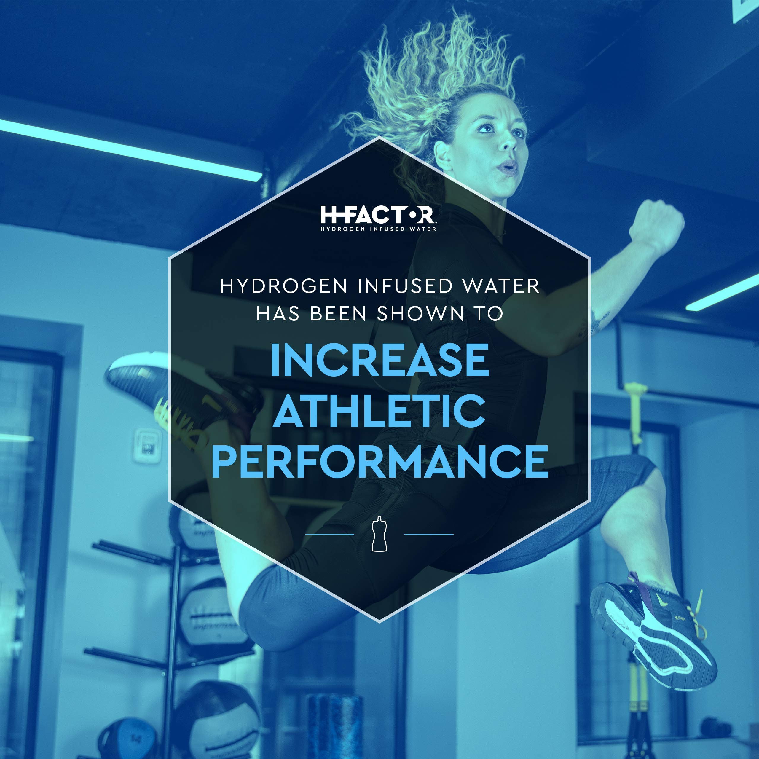 HFactor Hydrogen Infused Pure Drinking Water, Pre Or Post Workout Recovery Drink, 11 Fl Oz (24 Pack), Molecular Hydrogen Supports Athletic Performance Delivers Antioxidant, Packaging May Vary by H Factor (Image #3)