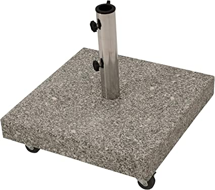 pied de parasol en granit massif 50