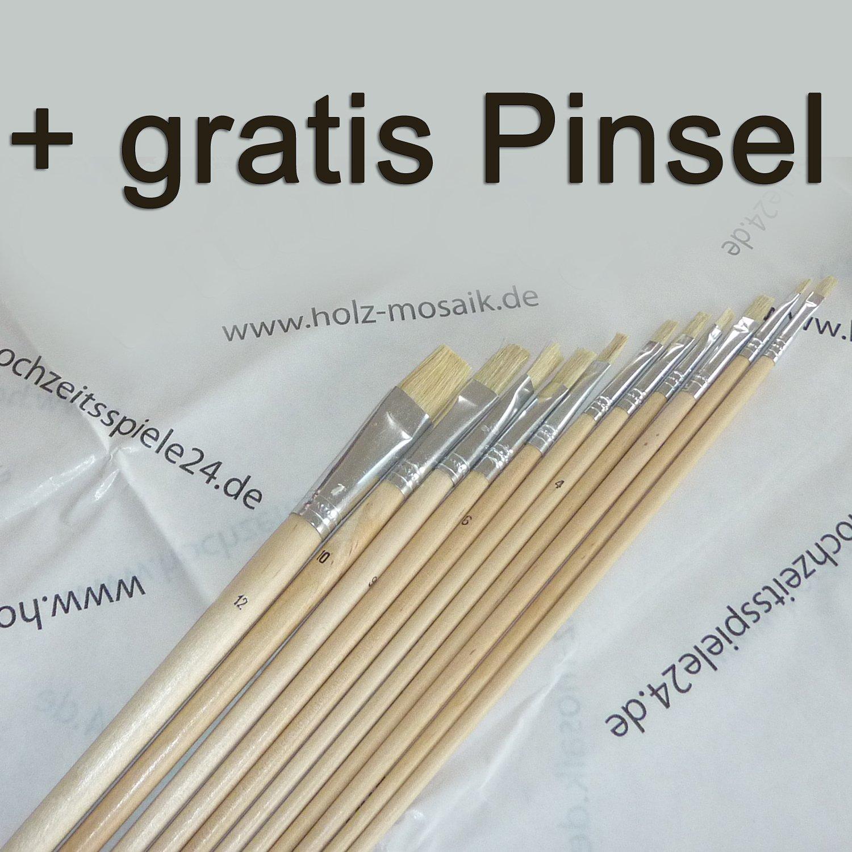 Holzpuzzle zur Hochzeit Hochzeit Hochzeit – Holzmosaik zum Bemalen, Rahmen Weiss, ca. 45 Holz-Puzzle-Teile (80x55 cm) B00JVS3H66 | Angenehmes Aussehen  ebe84d