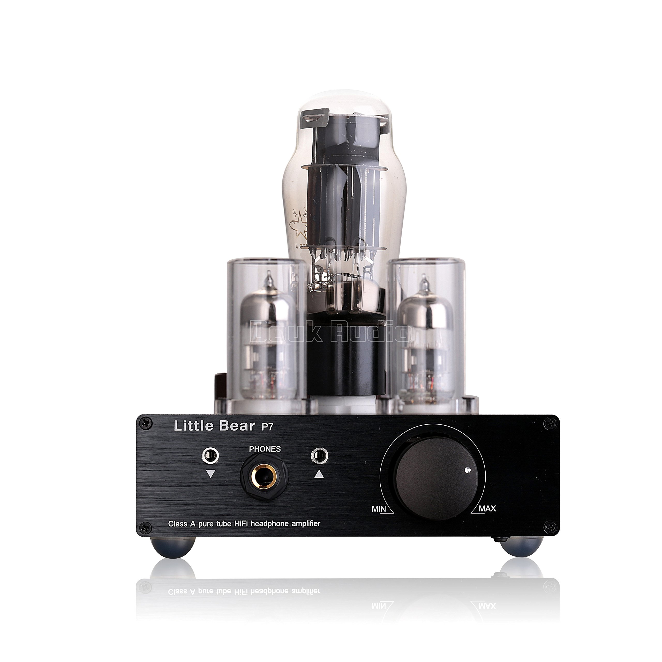Nobsound Little Bear P7 Class A SRPP Pure Vacuum Tube Headphone Amplifier; Pure Tube Preamplifier Audio Preamp; Dual-Headset out, Black, SMPS (Switching Mode Power Supply) by Nobsound
