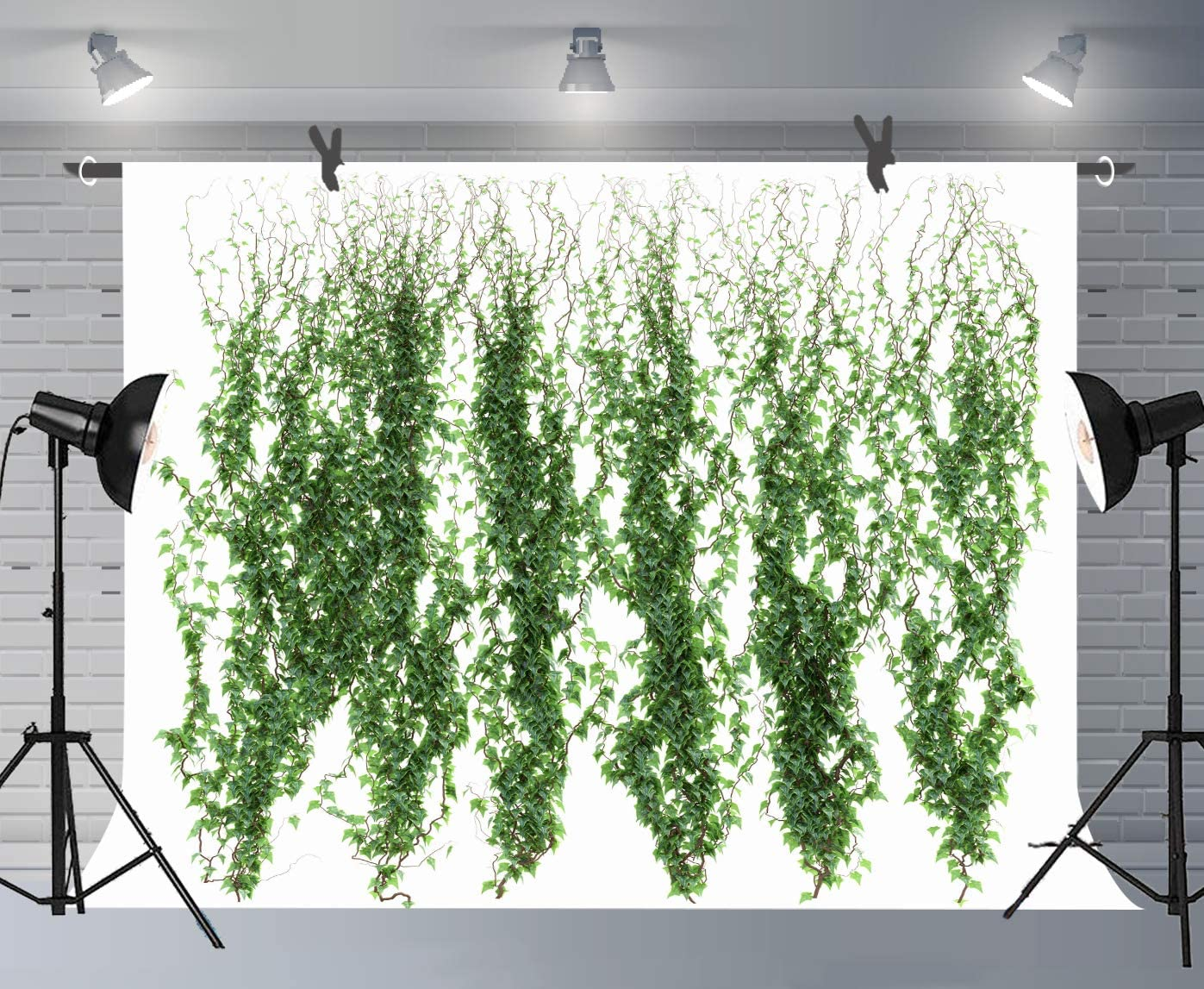 FUERMOR Plant Vine Backdrop Green Plant Leaf Background for Photography Wedding Birthday Party Banner Decoration Studio Props 7x5ft BJSYFU104