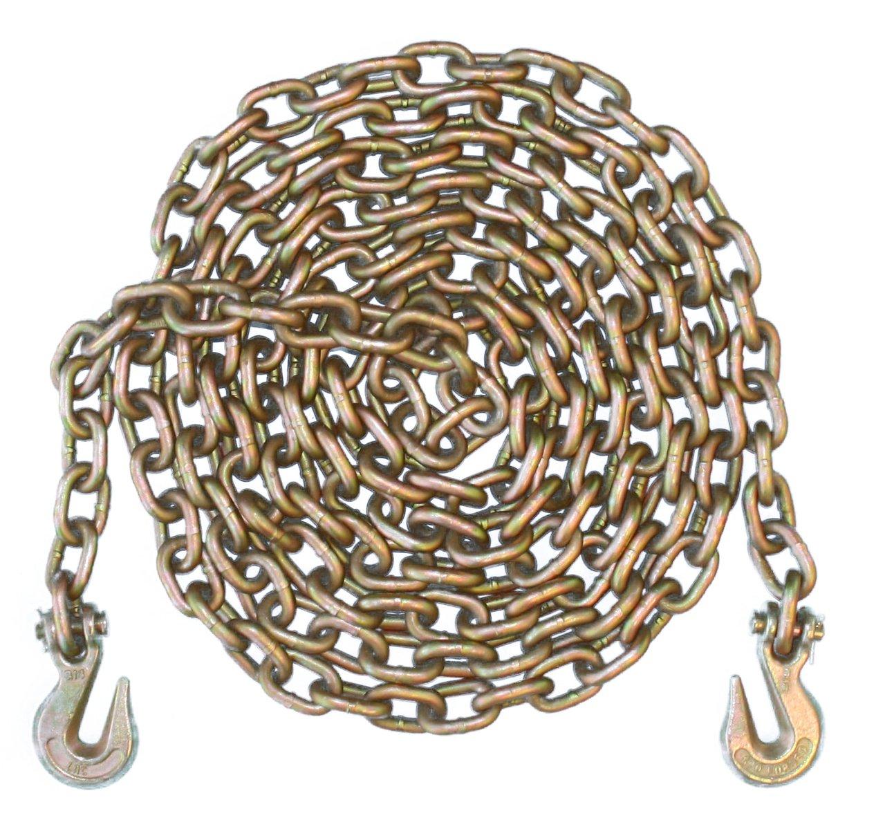 3/8'' - Grade 70 Binder Chain - Grab Hooks - 20' Length