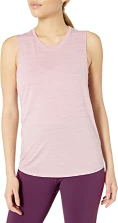 Amazon Brand - Core 10 Women's Jacquard Mesh Muscle Sleeveless Tank