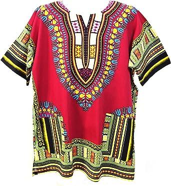 Camisa estilo Dashiki Vipada Handmade, para hombre, estilo Dashiki africano. Tamaño grande Marrón marrón Talla única: Amazon.es: Ropa y accesorios