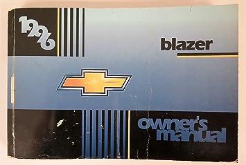 amazon com 1996 chevy chevrolet blazer owners manual guide book rh amazon com 1996 chevy s10 blazer owners manual 1996 chevy blazer service manual