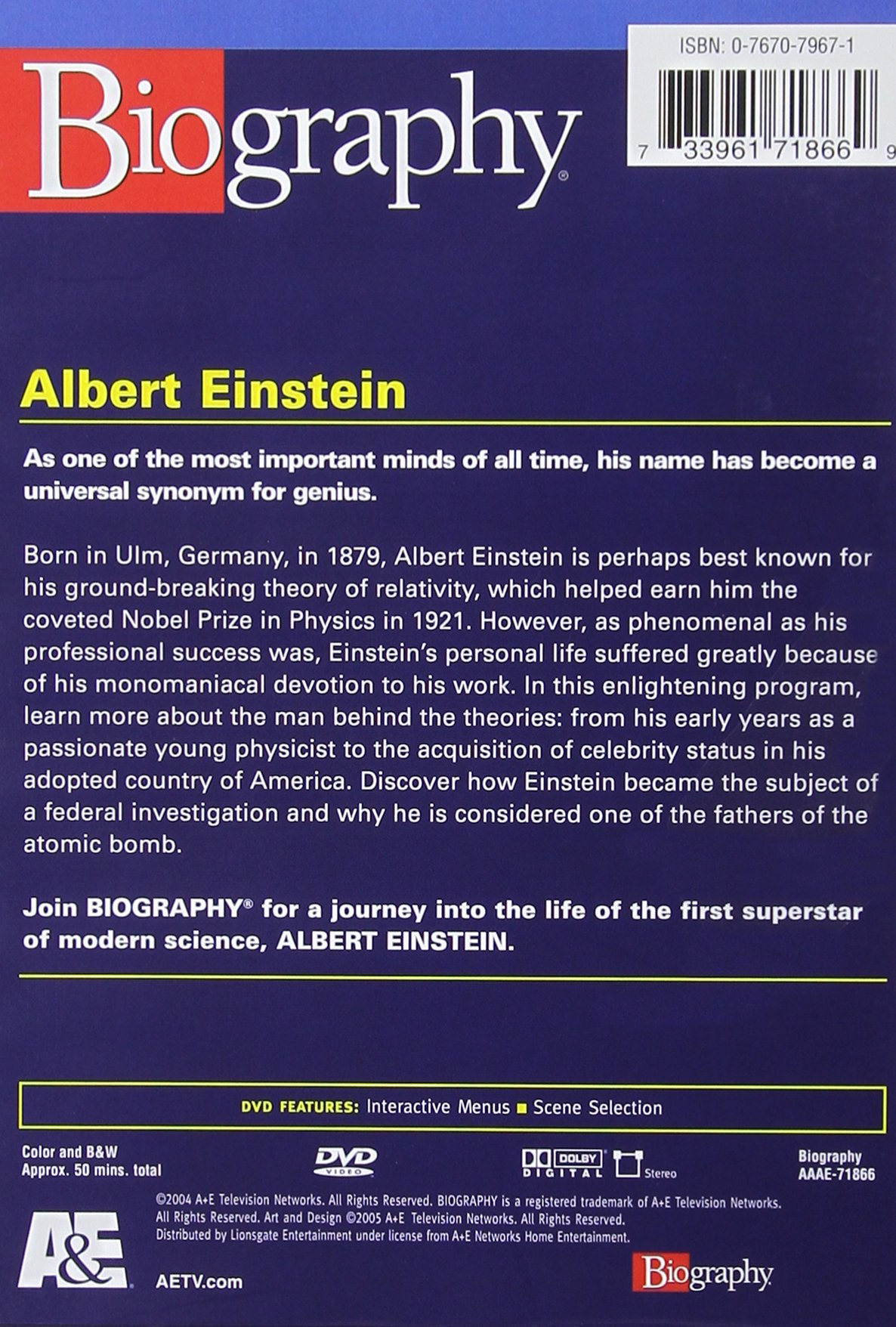 Biography - Albert Einstein (A&E DVD Archives)