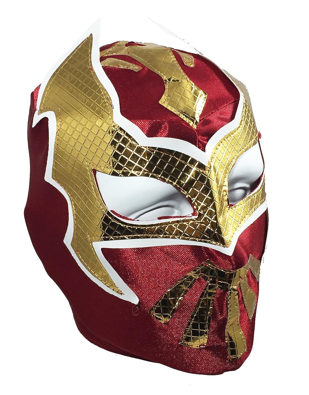 SIN CARA Youth Lucha Libre Wrestling Mask Kids Costume Wear Burgundy