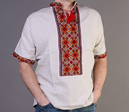 Amazon.com  EASTER SALE!!! VYSHYVANKA mens Ukrainian Embroidered ... 7c847666a