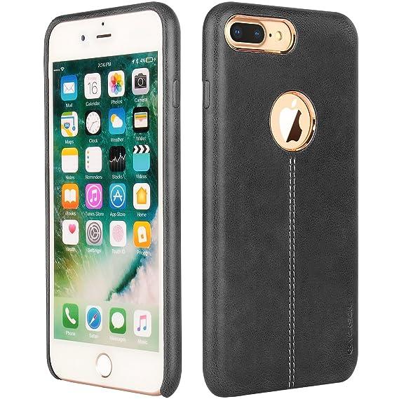 newest 49b40 1ec67 Vorson PU Leather Case for iPhone 7 Plus (Black)