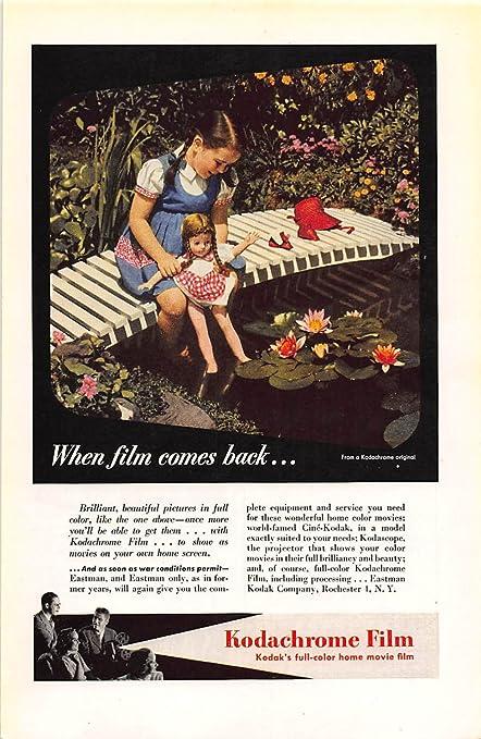 Print Ad 1945 Kodak Kodachrome Film Kodaks Full Color Home Movie