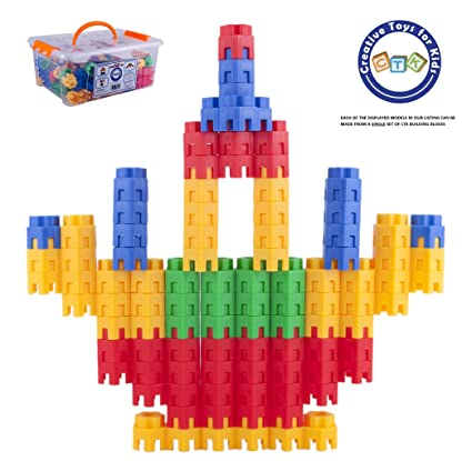 Amazon Com Building Toys For Kids 144 Pcs Set Stem Educational