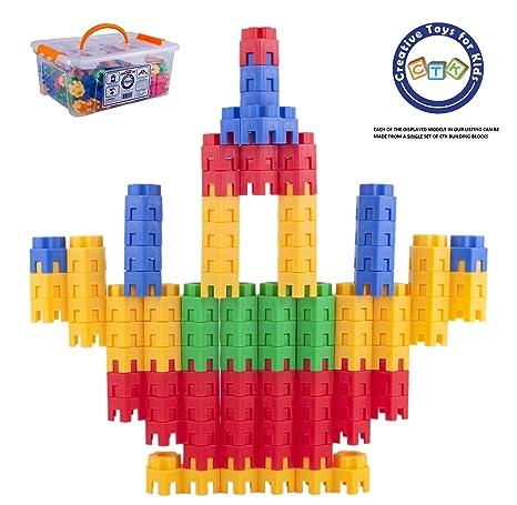 94435cec052 Building Toys For Kids 144 Pcs Set - STEM Educational Construction Toys - Building  Blocks For