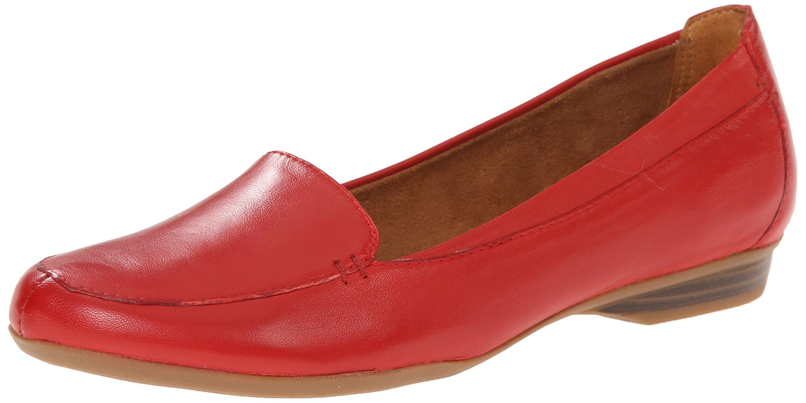 Naturalizer Women's Saban Slip-On Loafer, Red, 7.5 M US
