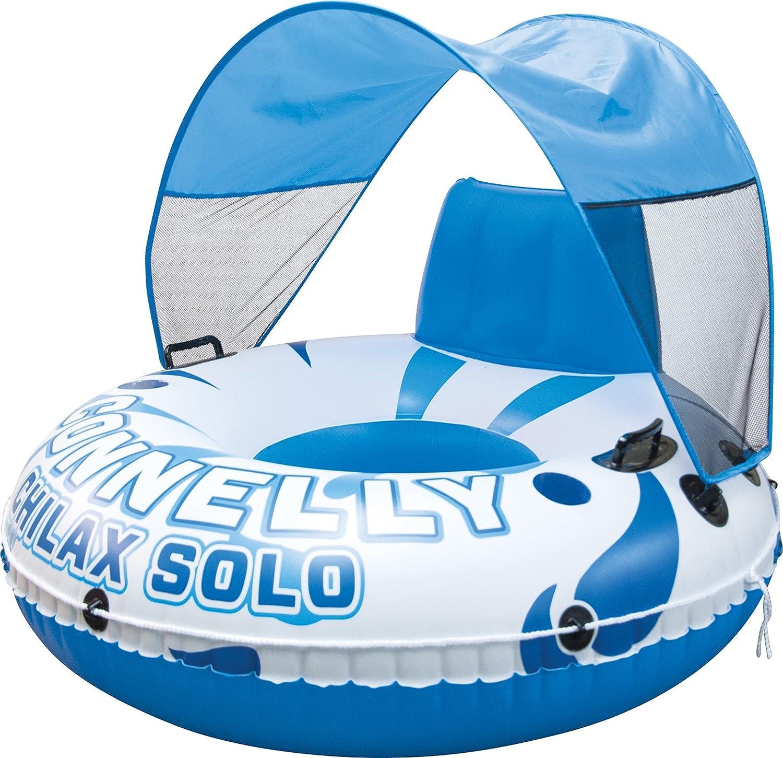 Connelly Chilax solo W/Canopy hinchable Tubo, Blanco/Azul: Amazon ...
