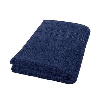 DECOLICIOUS - Toalla de Ducha 100% algodón Peinado - 550gr/m2 - Azul - 70x140 cm: Amazon.es: Hogar