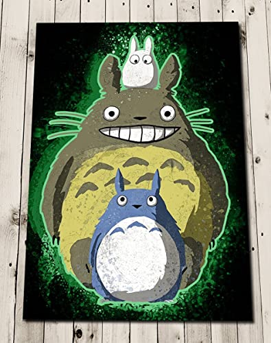 TOTORO Art Print   Studio Ghibli Poster   My Neighbour Totoro Print   Wall  Art Home