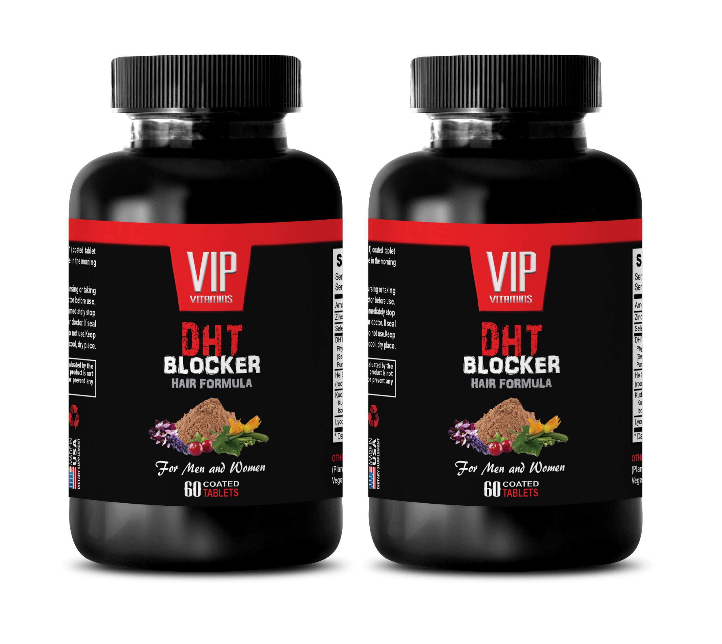 hair loss supplements zinc - DHT BLOCKER HAIR FORMULA - FOR MEN AND WOMEN - he shou wu for gray hair - 2 Bottles 120 Coated Tablets