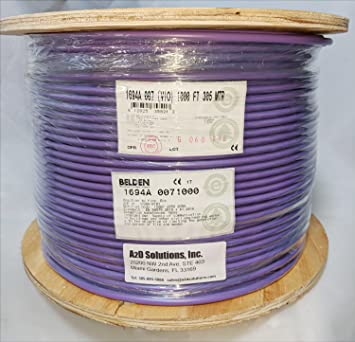 Amazon.com: Belden 1694A HD/SDI 18AWG RG6 SerialDigital Coaxial Cable - 1,000 FEET (VIOLET): Home Audio & Theater
