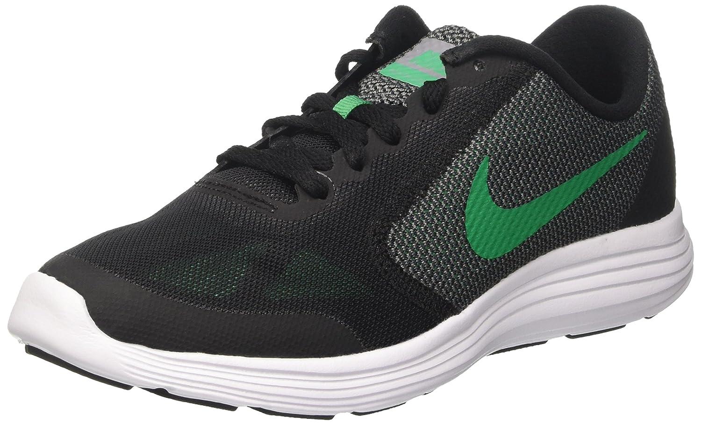 NIKE ' Revolution 3 (GS) Running Shoes B01GZBF4W6 4 M US Big Kid|Black/Stadium Green/Cool Grey/White