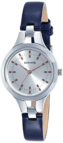 46cec49ae43 Image Unavailable. Image not available for. Colour  Sonata Steel Daisies  Analog Silver Dial Women s Watch-8151SL01