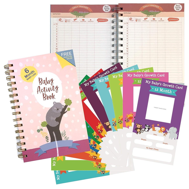 Amazon.com: Baby Tracker - Cuaderno de notas (180 días): Baby