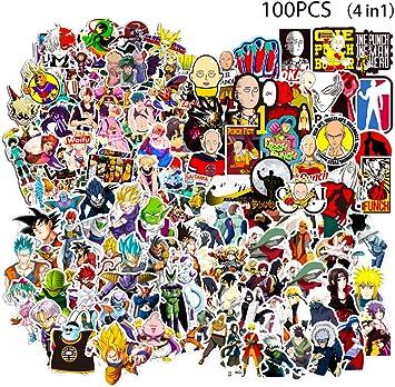 100 x Cartoon Anime Stickers Graffiti Decals Car Skate Skateboard Laptop Luggage