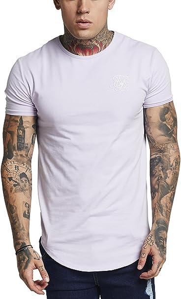 Sik Silk Hombre Hem curva Logo Gimnasio de la camiseta, Gris: Amazon.es: Ropa y accesorios