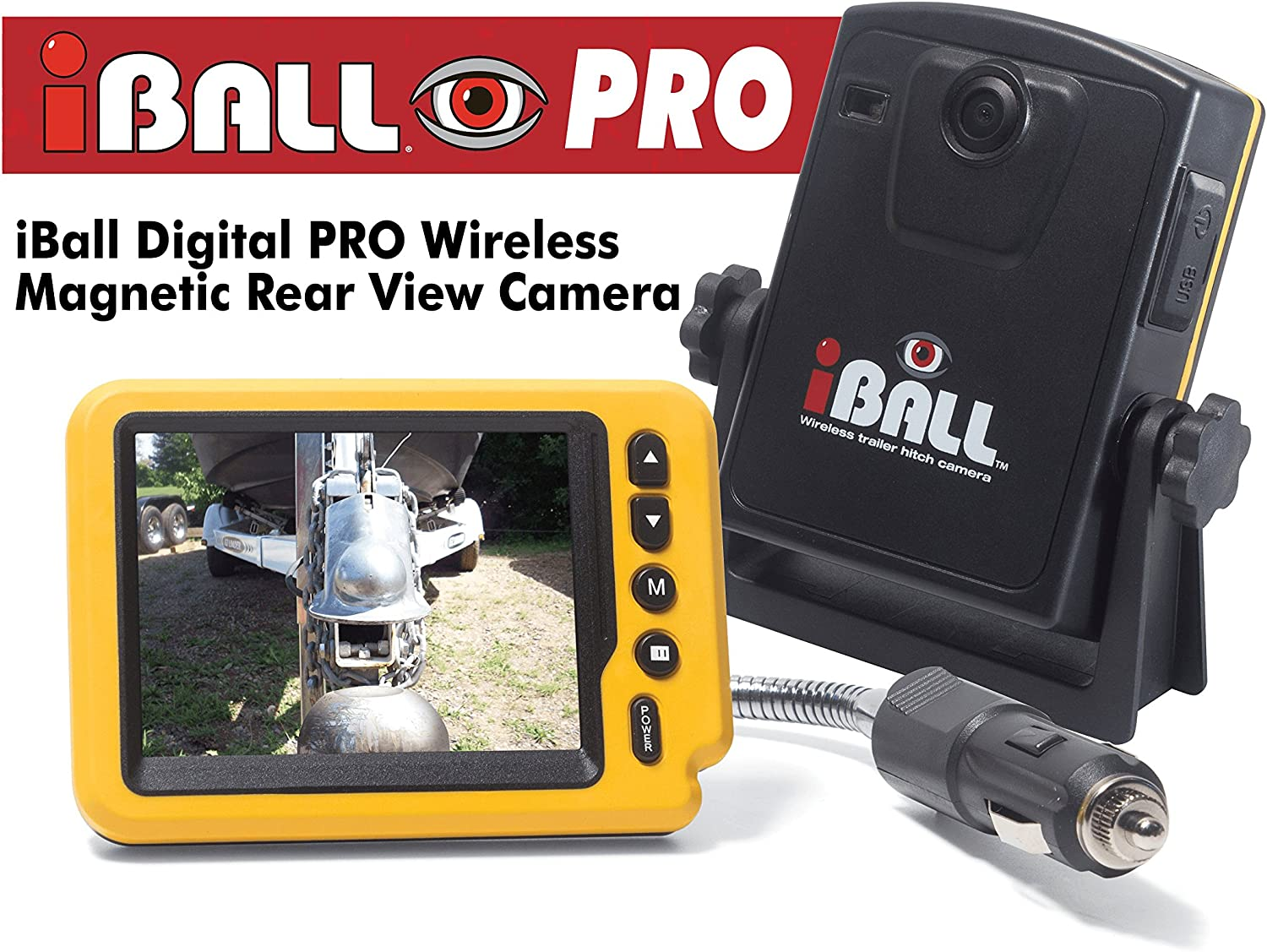 iBall Digital Pro Wireless Magnetic Trailer Hitch Rear View Camera