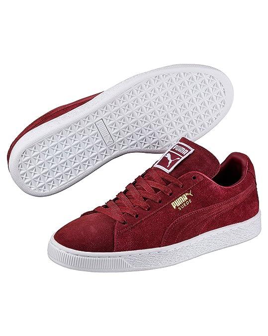 e913561716a Puma - Mens Basket Suede Classic Plus Bordeaux  Amazon.co.uk  Shoes   Bags