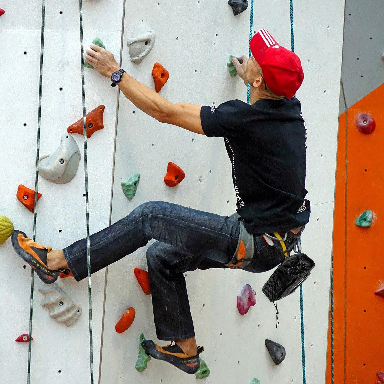 Tongshop Rock Escalada Tiza Bolsa Bolsillos mosquetón Escalada Bouldering, Gimnasia, Gimnasio Bolsa, Cruz Ajuste y Levantamiento para Sujetar iPhone y ...