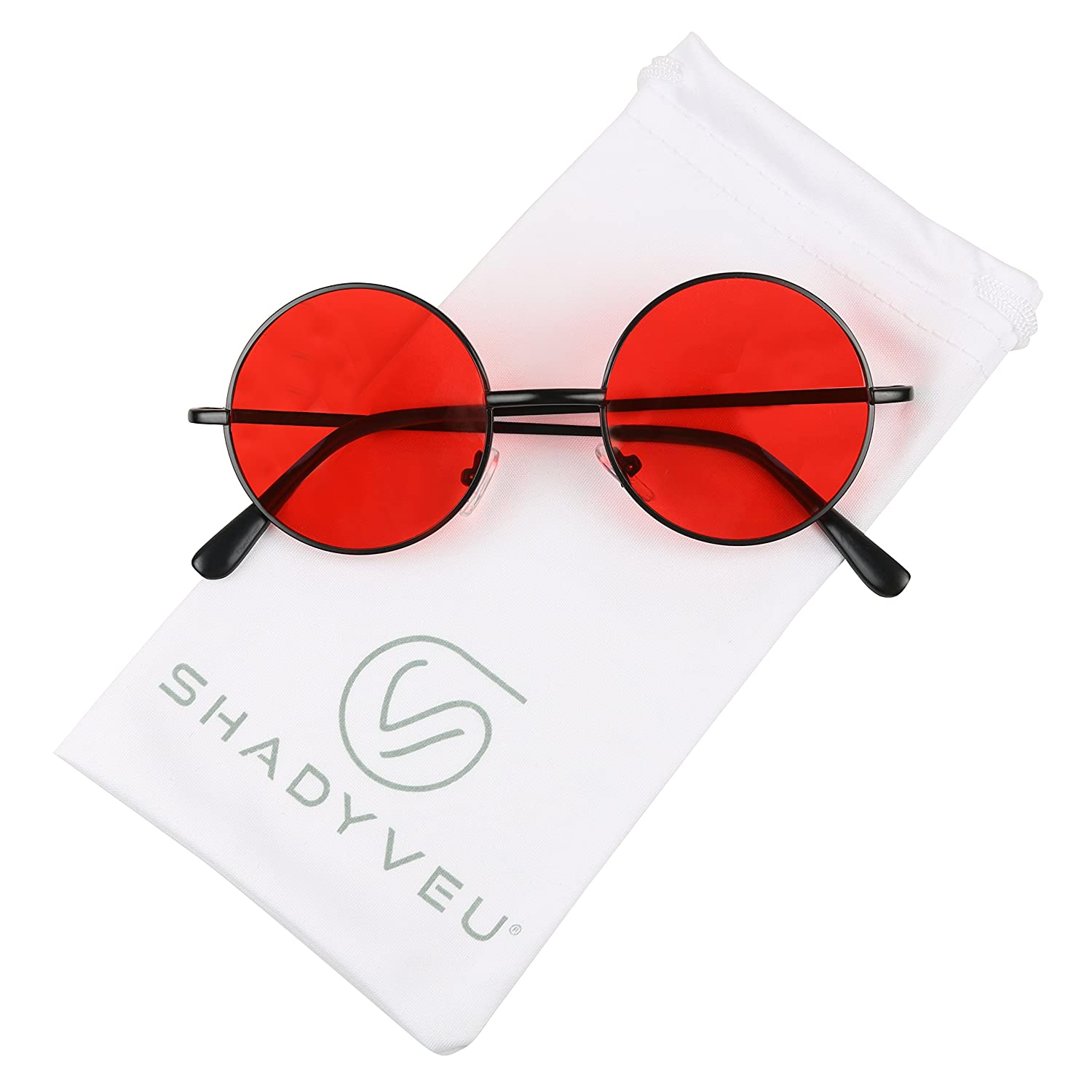 Amazon.com: ShadyVEU – Gafas de sol estilo retro colorido ...