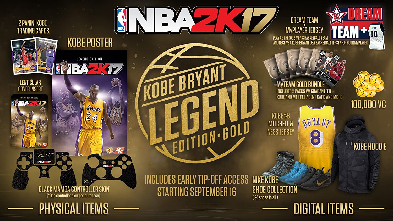 Amazon.com: NBA 2K17- Legends Gold - Xbox One: Nba 2k17 Legend Edition  Gold: Video Games