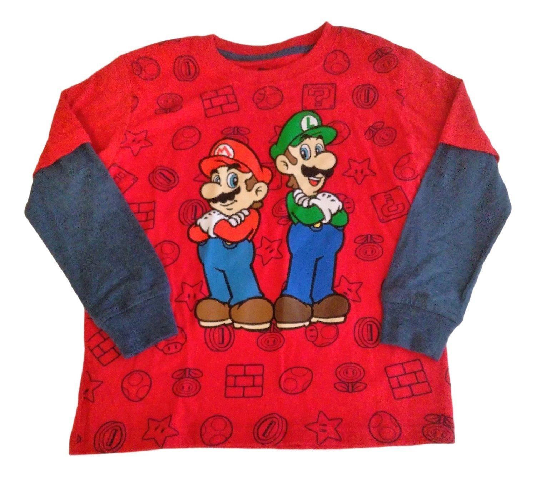 Long Sleeved Top sarcia.eu Black T-Shirt for Boys Super Mario