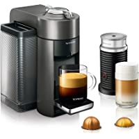 DeLonghi Nespresso Vertuo Coffee and Espresso Machine with Aeroccino (Titan)