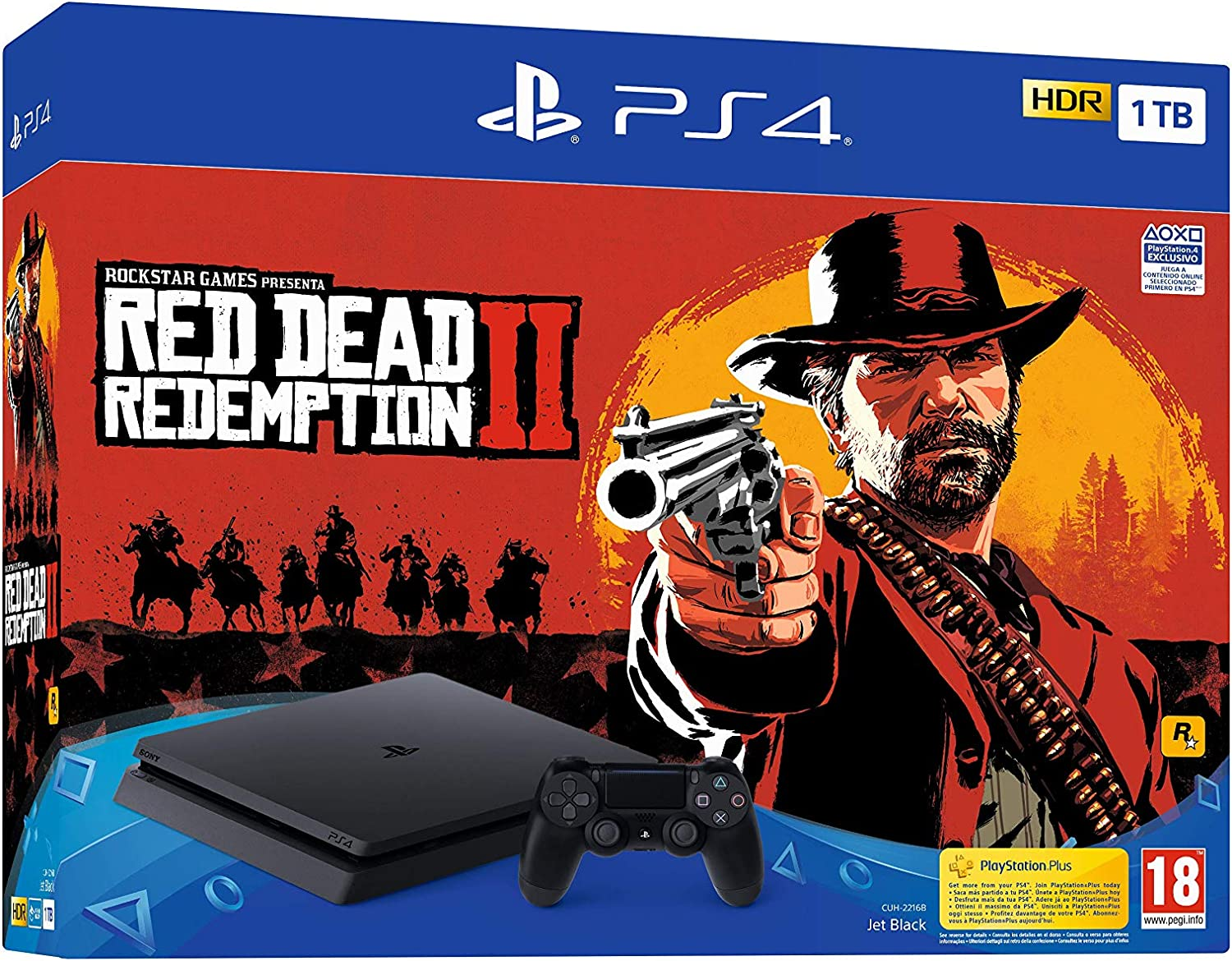 PlayStation 4 (PS4) - Consola de 1 TB + Red Dead Redemption II: Sony: Amazon.es: Videojuegos