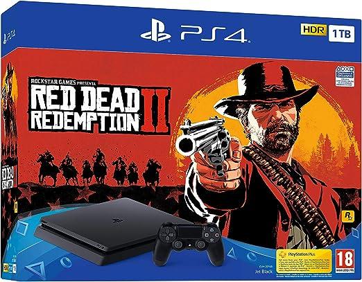 PlayStation 4 (PS4) - Consola de 1 TB + Red Dead Redemption II ...