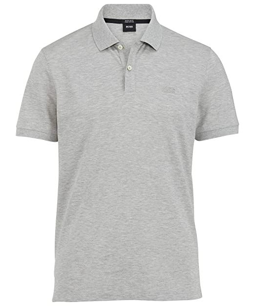 BOSS Hugo patrón Grey Marl Pallas Polo Gris S: Amazon.es: Ropa y ...