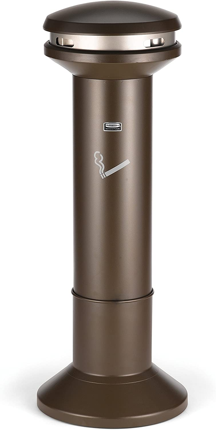 Rubbermaid Commercial Products FG9W3300AGBRNZ Infinity High-Capacity Smokers Station 4.1 Gallon Bronze
