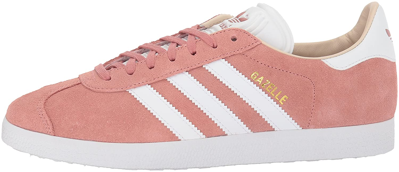 adidas Originals Gazelle W Sneaker B072BX1RCP 8 B(M) US|Ash Pearl/White/Linen