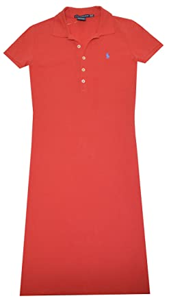 66310b3e0fd3 Image Unavailable. Image not available for. Color: Ralph Lauren Sport  Womens Pony Logo Polo Shirt Dress ...